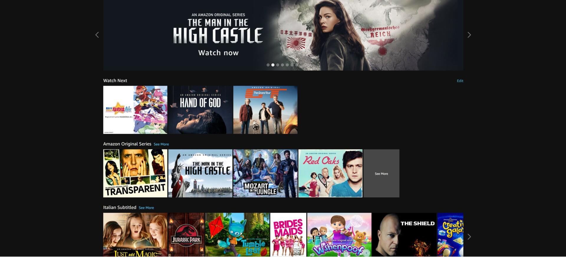 Amazon Prime Video sbarca in Italia: le nostre impressioni