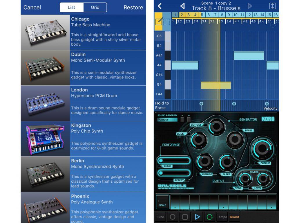 App iOs: suonare con Korg Gadget