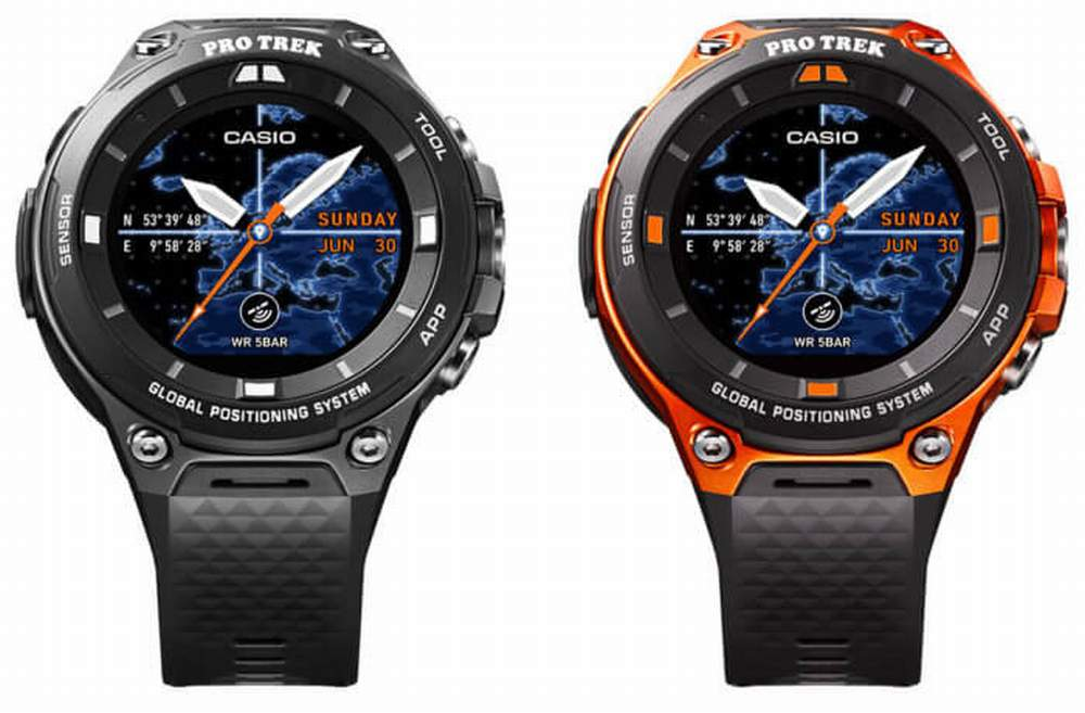 Casio WSD-F20, lo smartwatch per l'outdoor con Android Wear 2.0